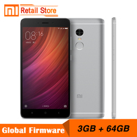 Original Xiaomi Mobile Phone Redmi Note 4 Pro 3GB RAM 64GB ROM MTK Helio X20 Deca Core 5.5'' FHD 1920*1080P  13MP 4100mAh 4G+