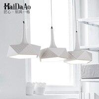 Столовая лампа три современный минималистичный подвесной светильник светодиодный светильник для столовой