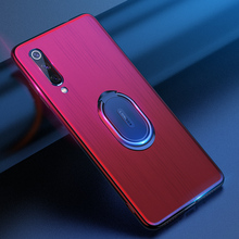 Holder Stand Case For Xiaomi MI 9 Ultra-thin Soft TPU Shockproof Back Cover Magnetic Luxury Silicone Bag
