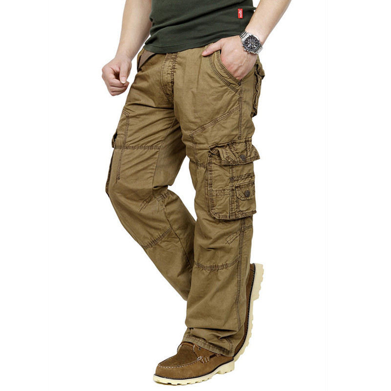 Aliexpress.com : Buy High Quality Casual Cargo Pants for Men Long ...