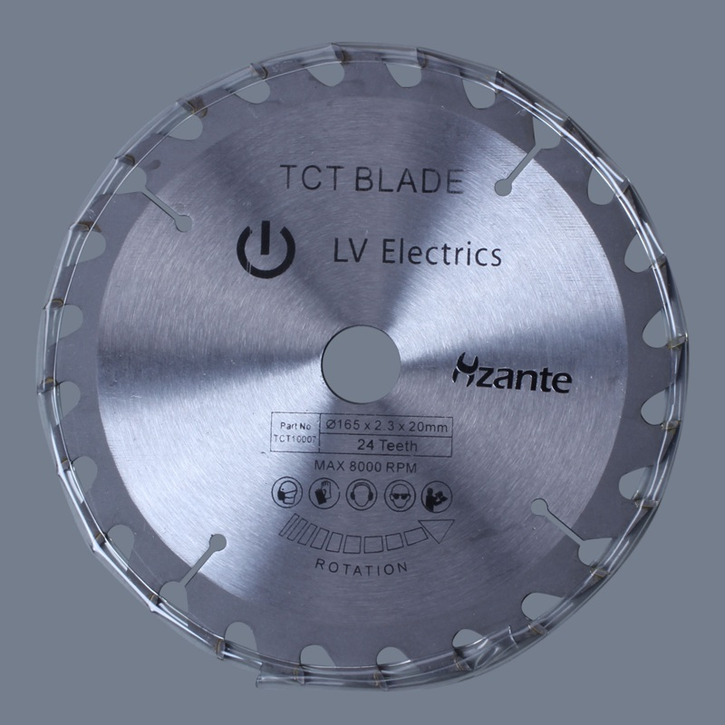 165mm 24T 20mm Bore TCT Circular Saw Blade Disc For Dewalt Makita Ryobi Bosch