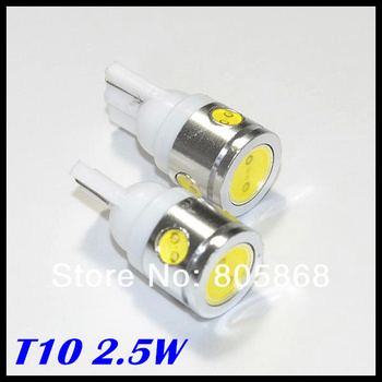 T10 Car LED High Power 2.5W 194 168 W5W Side Width Lamp Light Bulb Clearance Light Parking Light Indicator Reading Lamp