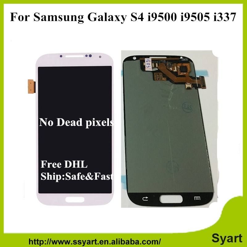 S4 i9500 Full Lcd screen orignal For Samsung Galaxy S4 i9500 i9505 i337 Touch Screen Digitizer Assembly Free DHL 5PCS