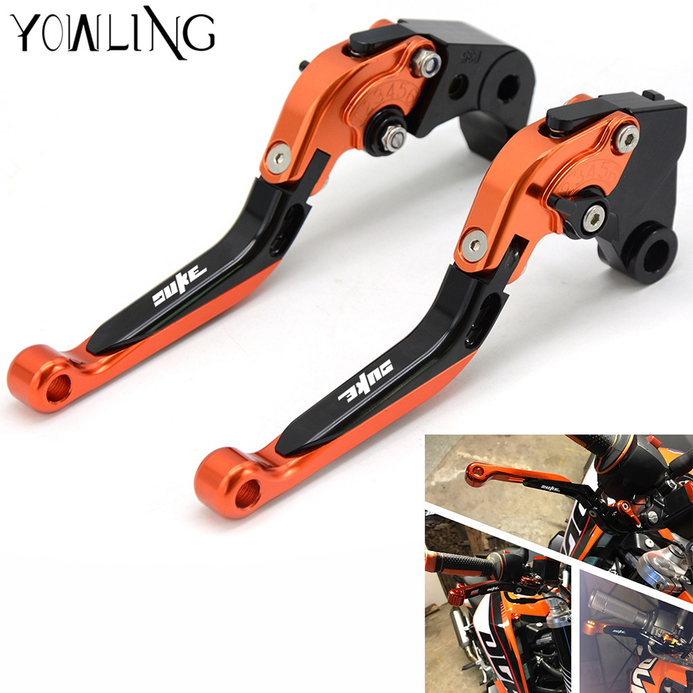 CNC Motorcycle Adjustable Folding Extendable Brakes Clutch Levers For KTM 690 SMC/SMC-R/Duke/Duke R 2012-2013 motorcycle front rider seat leather cover for ktm 125 200 390 duke