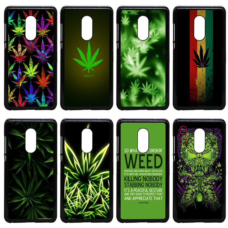 Weed Leaf Grass Guf Cell Phone Cases Hard PC Plastic Cover for Xiaomi Redmi 3X Mi 6 5 5S Plus Note 4X 2 3 3S 4 Pro Prime Shell