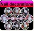 10 Mixed 3D Nail Art adesivos strass decoração Slice acrílico Glitter strass rodas frete grátis