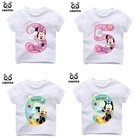 Kid Happy Birthday Number 1~9th Cartoon Mouse Number Print T-shirts Boy and Girl Number Tshirt Baby Summer Top Children Clothes