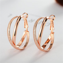 ECODAY Jewelry Vintage Hoop Earrings Rose Gold Silver Color for Women Pendientes Mujer Oorbellen Brincos