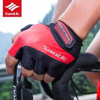 Santic Bicycle Road Race Gloves Men Women Sports Half Finger MTB Mountain Cycling Gloves Summer Bicycle