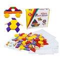 125 шт./компл. красочные Обучающие пазлы игрушки семья/вечерние лучший подарок для детей высококачественные деревянные обучающие игры