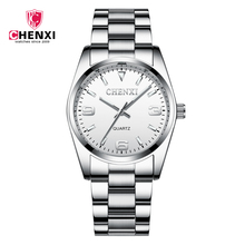 CHENXI Марка Роскошные часы Для мужчин полный Нержавеющаясталь кварцевые наручные часы для Для женщин Водонепроницаемый мода пару часов relojes hombre