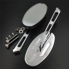 Aftermarket free shipping Alloy Rearview Oval Mirror for Honda Kawasaki Yamaha CBR600 F4/F4i 900RR 929RR 954RR RC51 chromed
