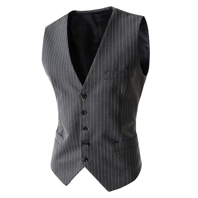 ZOGGA New Brand Men Suit Vest Fashion Wedding Waistcoat Business Casual Waistcoat Slim Fit Solid Vests Size S- XXL Hot Sale