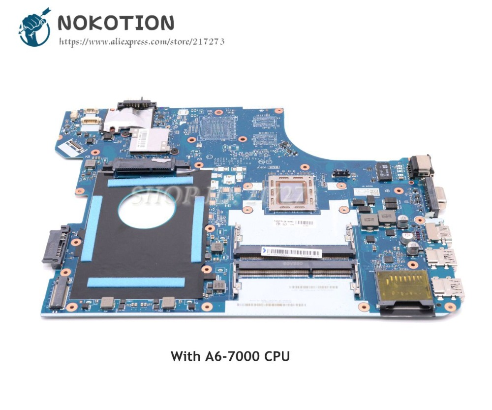 NOKOTION For Lenovo ThinkPad E555 Laptop Motherboard A6-7000 CPU 04X5624 AATE1 NM-A241 Main Board Full TestedNOKOTION For Lenovo ThinkPad E555 Laptop Motherboard A6-7000 CPU 04X5624 AATE1 NM-A241 Main Board Full Tested