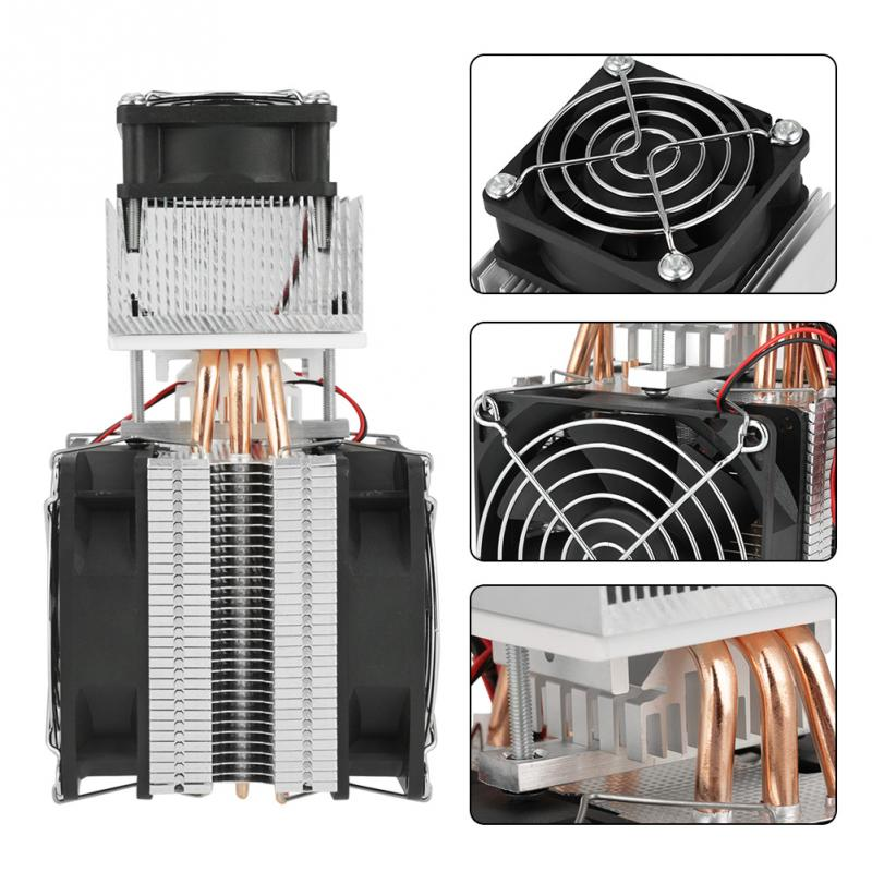 Electronic Semiconductor Refrigeration Cooler Semiconductor Refrigeration 12V 72W DIY Cooling System Kit DIY Refrigerator Cooler special offer xd 2030 refrigeration unit module semiconductor cooling chiller refrigeration unit 240w