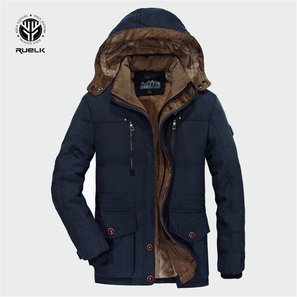 Winter   Parka   Men Coats 2019 Thick Warm Jacket Men Cotton Hooded Outwear Warm Coat Top Plus Velvet Couple Cotton   Parka   Coat