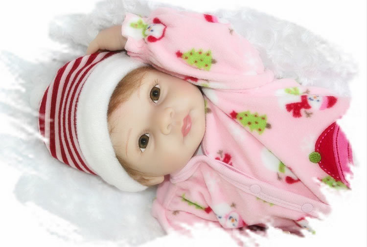 22 Inch Realistic Reborn Silicone Dolls Soft Newborn Baby Girl That Look Real Kids Birthday Xmas Gift gps навигатор lexand sa5 hd черный