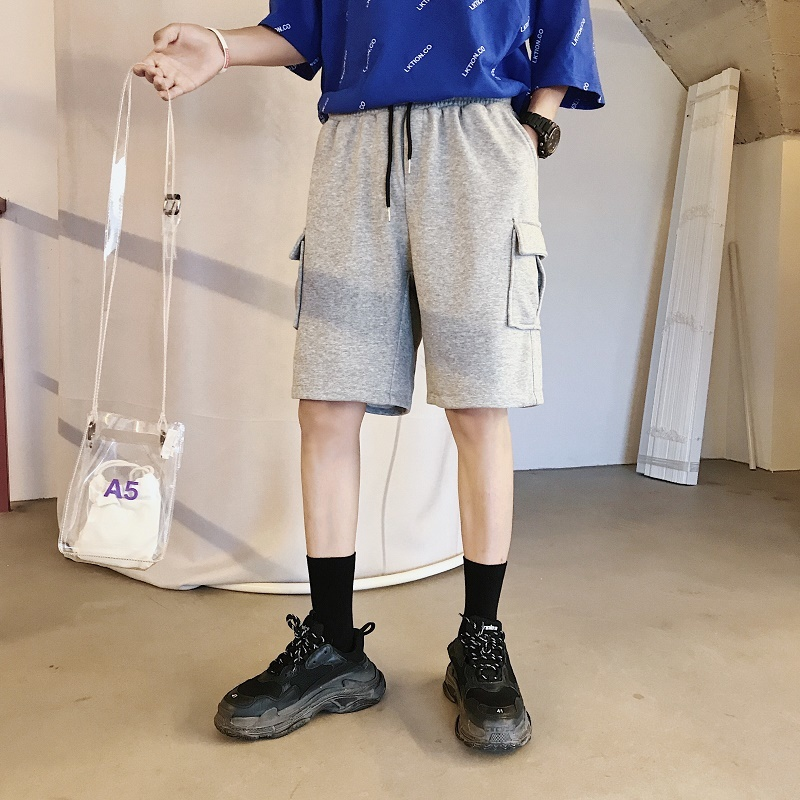 2018 Fashion Summer Casual Work Clothes Solid Color Male Shorts Five Points Pants Youth Pop Leisure Homme Elastic Waist Trousers
