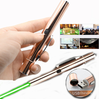 Red Green Laser Pointers Pen USB RF Remote Control Page Turning PPT Powerpoint Presentation|Lasers| |  -