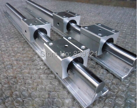 low price for China linear round guide rail guideway SBR20 rail 500mm take with 2 block slide bearings цена