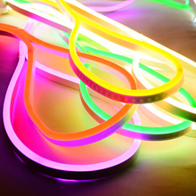 Soft LED Neon Lights DC 12V Flexible Waterproof Outdoors Light Strip For Decorate Square Garden Highway
