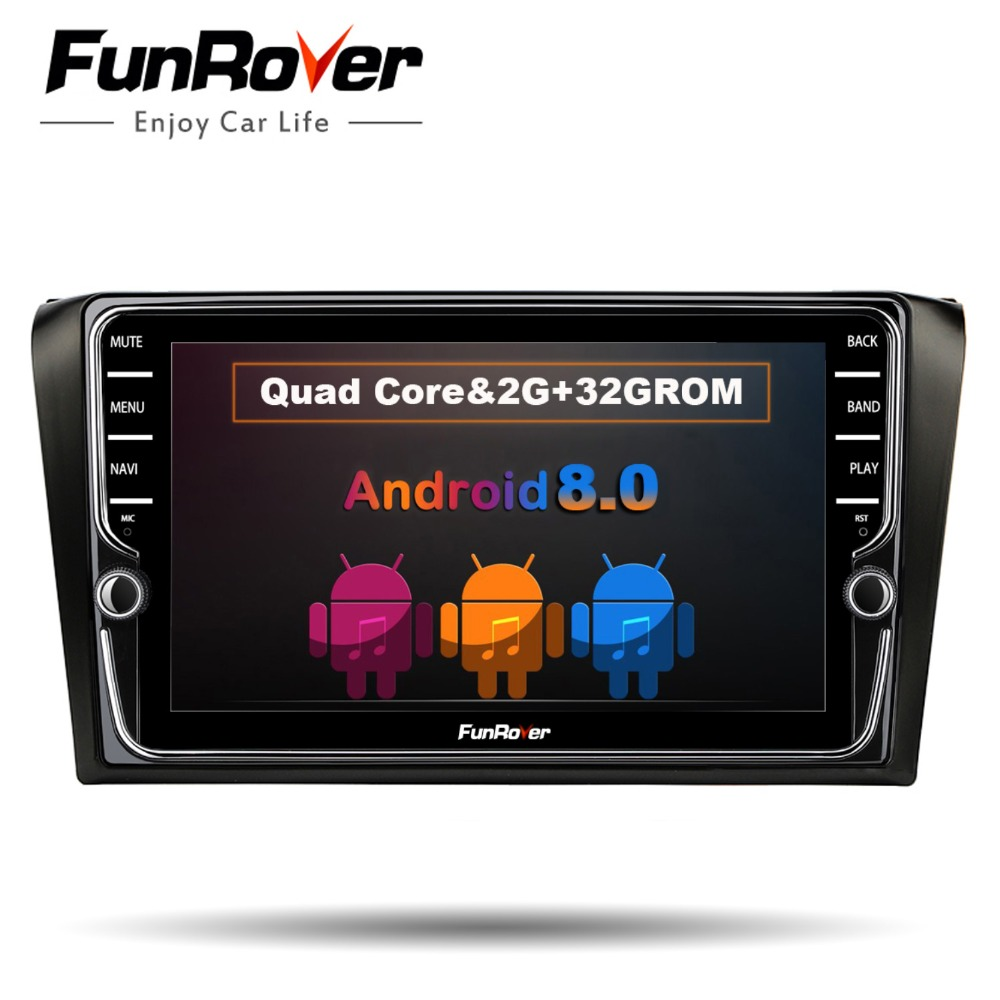 Funrover IPS 2 din car dvd radio Player Android 8.0 for mazda 3 mazda3 2004 2009 car gps Navigation multimedia tape recorder 8