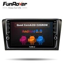 Funrover ips 2 din Автомобильный dvd-радиоплеер Android 8,0 для mazda 3 mazda3 2004-2009 gps-навигации мультимедийная лента рекордер 8″