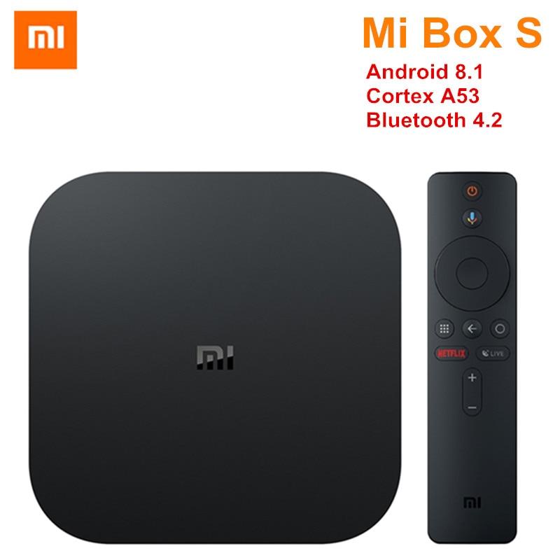 Xiaomi Mi Box S 4K TV Box Cortex-A53 Quad Core 64 bit Mali-450 Android 8.1 2GB+8GB HDMI2.0 2.4G/5.8G WiFi BT4.2 Set Top Box new xiaomi mi box s 4k tv box cortex a53 quad core 64 bit mali 450 android 8 1 2gb 8gb hdmi2 0 2 4g 5 8g wifi bt4 2 set top box