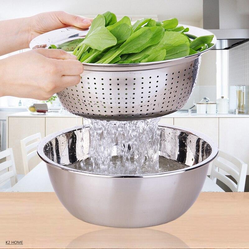 Buy Pro Vegetable Washing Colander Stainless Steel Mesh Colander Three Sizes