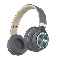 B6 Wireless Headphones Bluetooth HiFI Stereo Headphone Foldable Headset LED Light Earphones With HD Mic For Cellphone Tv tablet