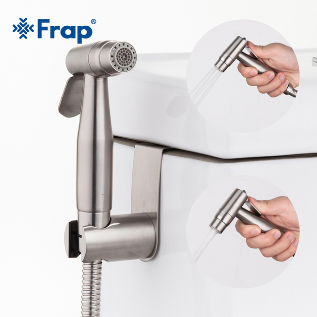 Frap Новый портативный два Функция распылитель для туалетного биде комплект Нержавеющая сталь ручной кран для биде для распылитель для ванной комнаты Душ