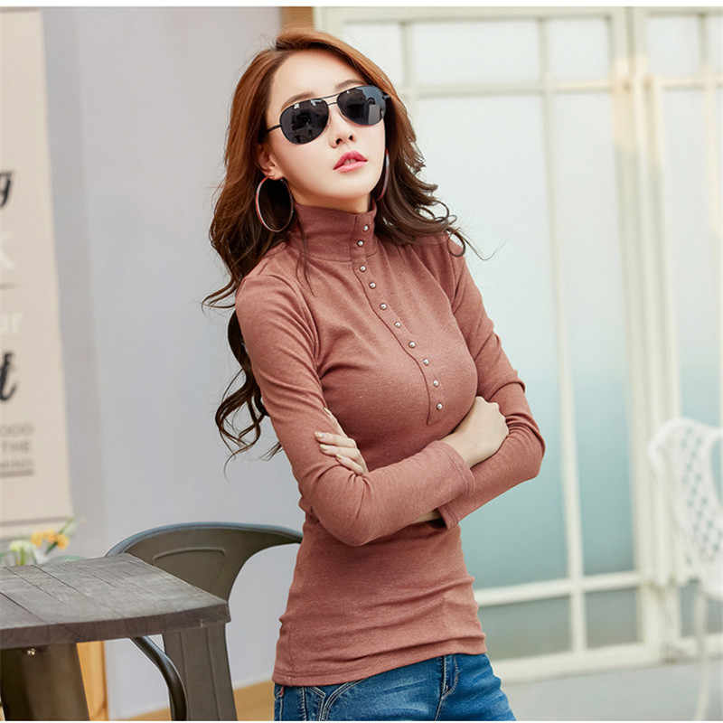 7a29fd3ae30fb Merry Pretty Plus Size 4XL Turtleneck Sweater 2018 Winter Plus Velvet  Knitted Tops Long Sleeve Button