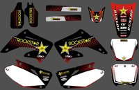 0162 New Style TEAM GRAPHICS BACKGROUNDS DECALS STICKERS Kits For CR125 CR250 2002 2003 2004 2005