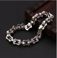 100% real silver 925 christmas bracelets personalized bracelet wrap bracelet 21cm men jewelry