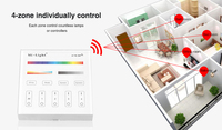 Mi Light T4 RGB CCT Controller Touch Panel Remote4 Zone Control Dimmer Color Adjustabable AC85 265V For RGB RGBW Light