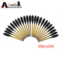 60 Pcs Pack Aluminum Pistol Crossbow Arrows 50 80 Lbs Archery Shooting Sports Recuve Compound Accurate