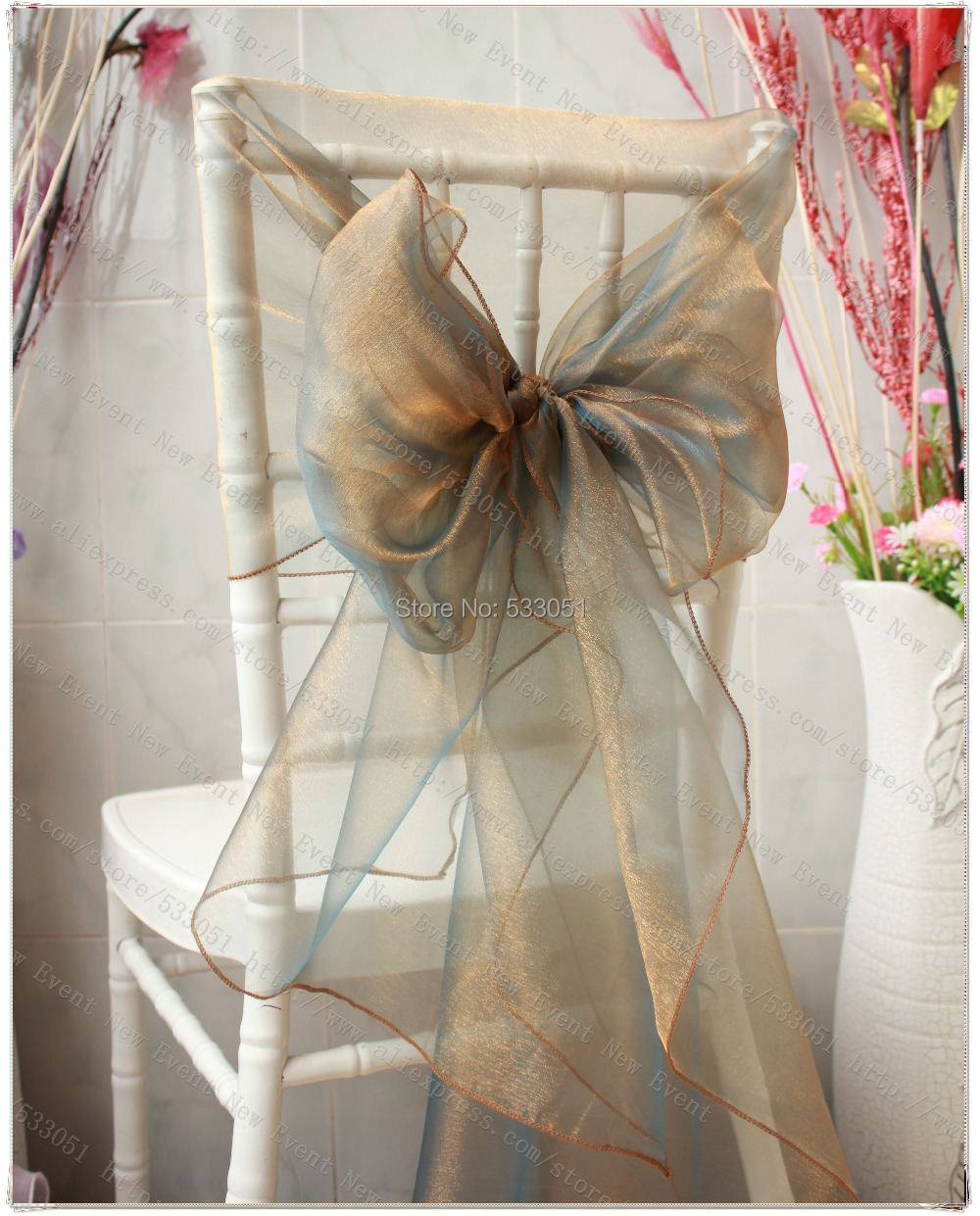 No 61 Color Snow Organza Chair Hoods Chair Caps Wrap