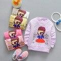 2017 nuevas camisas de las muchachas 0-3years bebé sweatershirts moda bebé clothing dd05