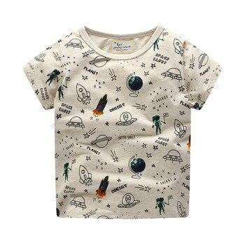 91b8cf835 Baby Boy Clothes Summer T shirt Children Boys Top Kids Clothes Dinosaur  Animals Print Boys Cartoon Short Sleeve T shirts