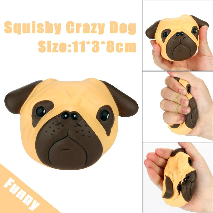 Exquisite Fun Crazy Dog Scented Squishy Charm Slow Rising 8cm Simulation Kid Toy anti stress funny prank Elastic #25