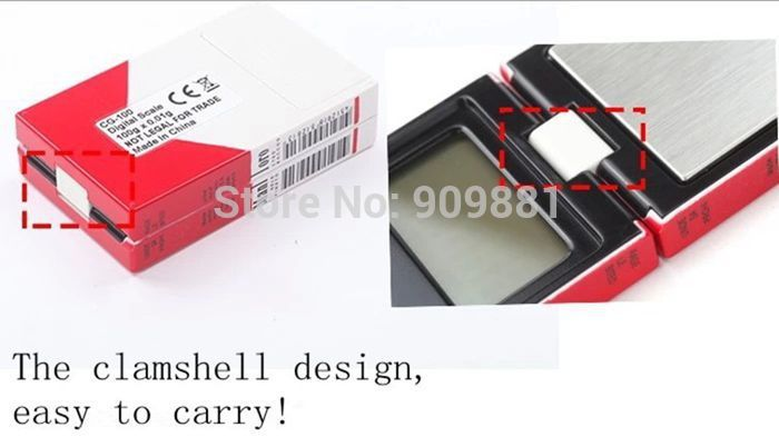 100 g 0,01 g mini elektroninių kišeninių papuošalų svarstyklių - Matavimo prietaisai - Nuotrauka 4