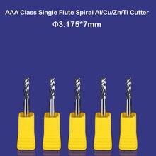 """CNC router ferramentas de corte de alumínio único flauta espiral bits moinho China atacado pouco 7mm 1/8"""""""