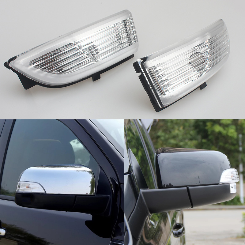 1/2pcs RH and LH Side Rearview Mirror Led Turn Signal Light Lamp Lights indicator For Ford Everest Ranger 2012 2013 Without bulb 1 pc lh door mirror lamp light turn signals driver side for ford f150 lower configuration