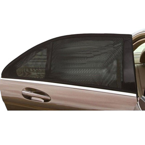 Image 5 - 2 adet araba yan pencere güneşlik otomatik güneş gölgelik ön cam örgü güneş sivrisinek toz koruma perdesi UV araba cam kapak