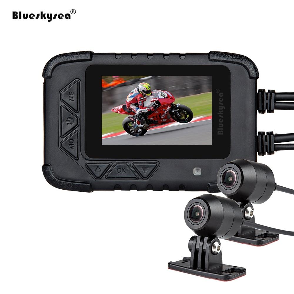 Blueskysea DV688 Motociclista Da Motocicleta DVR Câmera de Ação Dupla 1080 p Night Vision