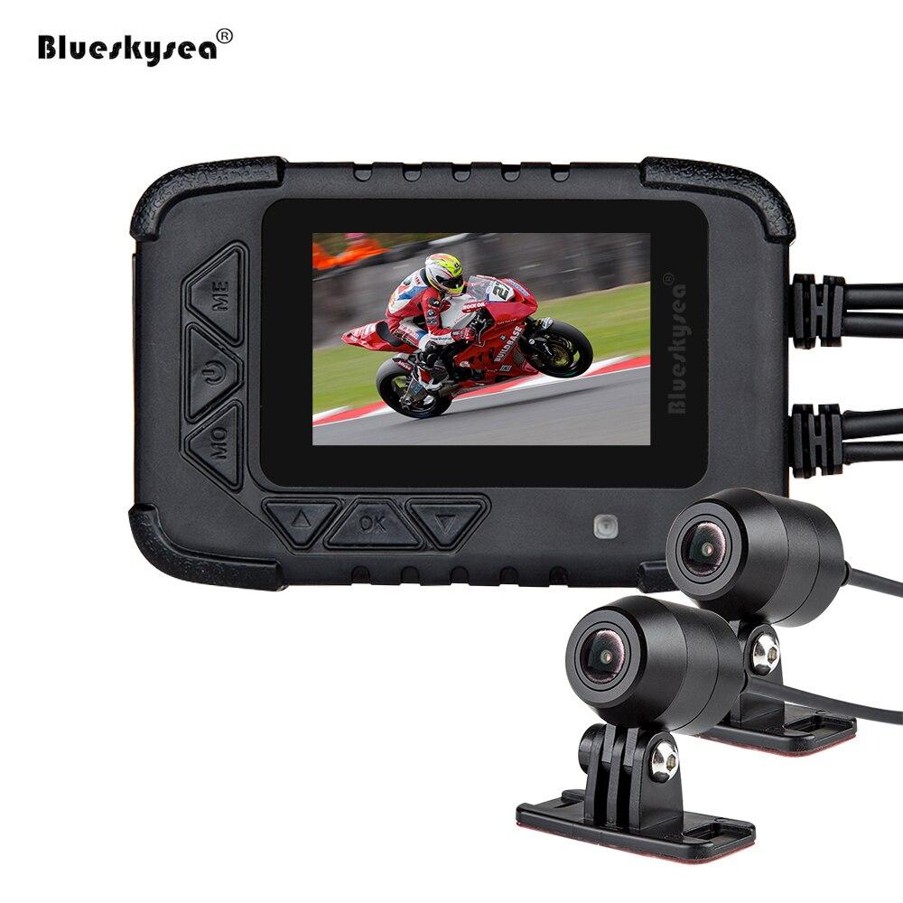 Blueskysea Motorcycle DVR DV688 Biker Action Camera Dual 1080P Night Vision