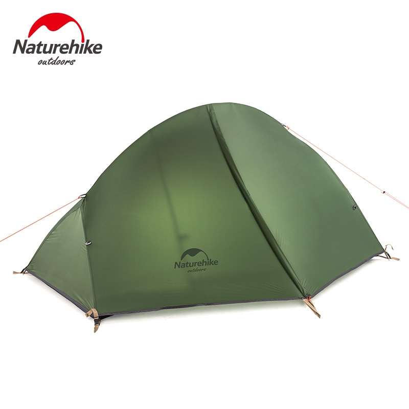 Naturehike Ultralight 1Person Camping Tent Backpacking Trekking Hiking Cycling Single Tents Waterproof PU4000 Green1 3KG