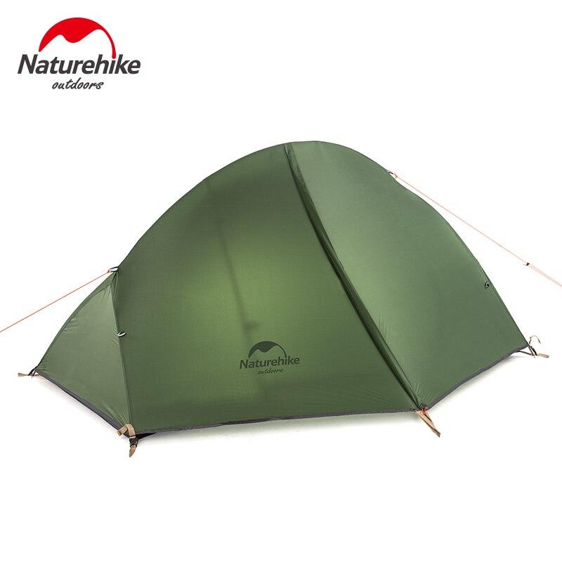 Naturetrekking ultra-léger 1 personne Camping tente sac à dos Trekking randonnée cyclisme unique tentes étanche PU4000 Green1.3KG