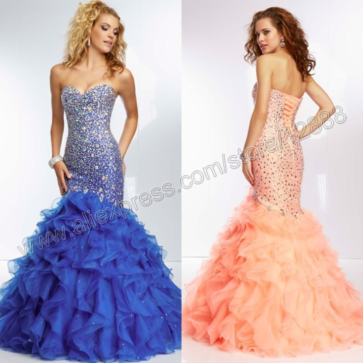 Aliexpress.com : Buy Beaded Organza and Ruffled Gown Sweetheart ...