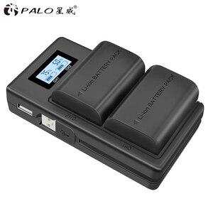 Image 3 - Palo lcd duplo usb carregador LP E6 lp e6 lpe6 câmera carregador de bateria para canon 5d mark ii iii 7d 60d eos 6d 70d 80d câmera